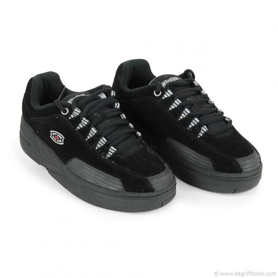 Baskets à roulettes noires homme Skechers