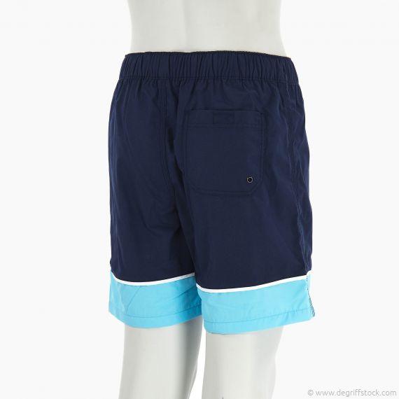 short de bain bleu gar on poivre blanc d griff 39 stock. Black Bedroom Furniture Sets. Home Design Ideas