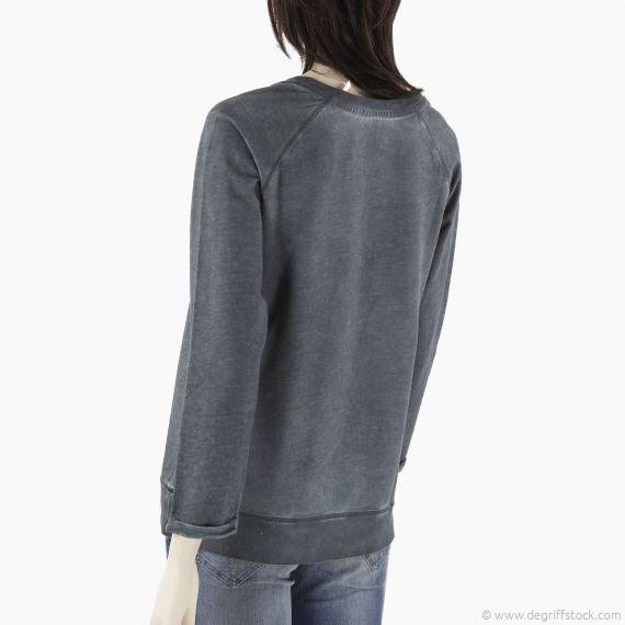 sweat gris vert femme red soul d griff 39 stock. Black Bedroom Furniture Sets. Home Design Ideas
