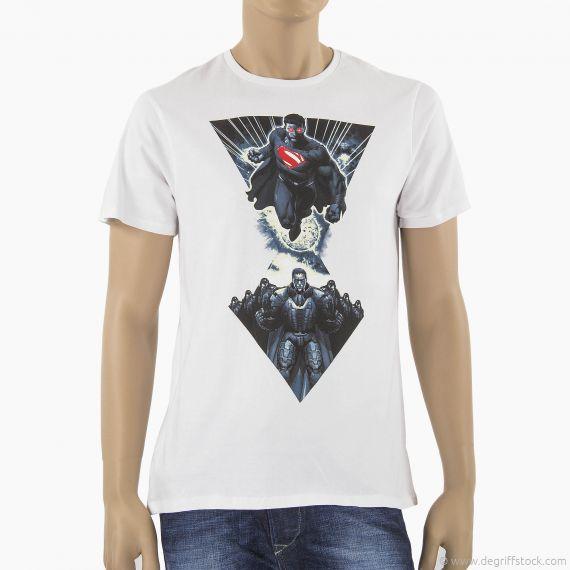 T-shirt blanc SUPERMAN homme DC Comics