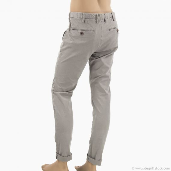 pantalon chino gris homme marlboro classics mcs d griff 39 stock. Black Bedroom Furniture Sets. Home Design Ideas