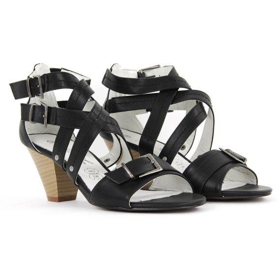 Sandales noires femme CHUTE Iro Iko