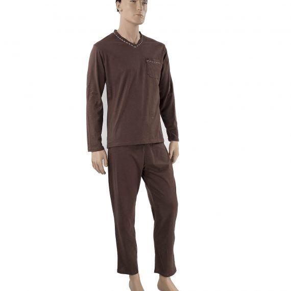 Pyjama marron homme Ted Lapidus