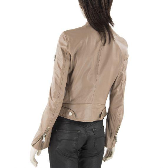 Blouson en cuir marron glac femme imola laverda d griff 39 stock - Marron glace prix ...