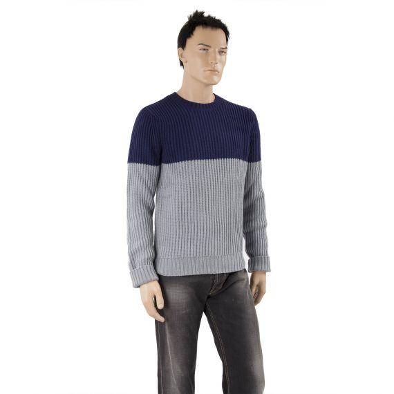 pull bleu marine et gris homme levi 39 s d griff 39 stock. Black Bedroom Furniture Sets. Home Design Ideas