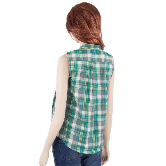 blouse verte femme carreaux best mountain d griff 39 stock. Black Bedroom Furniture Sets. Home Design Ideas