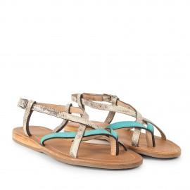 Sandales turquoise femme BONBON Les Tropéziennes