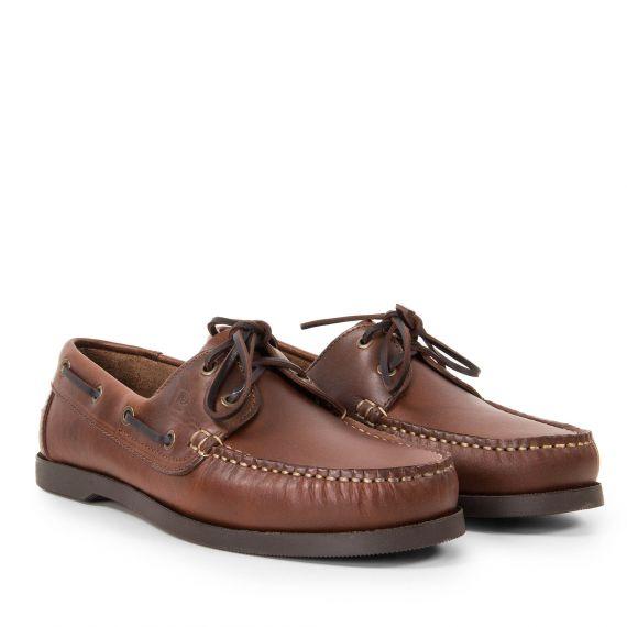 Chaussures bateau cognac homme TOBA Pierre Cardin