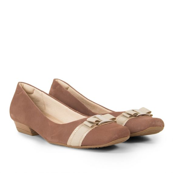 Ballerines marron clair femme BETTY Luxat