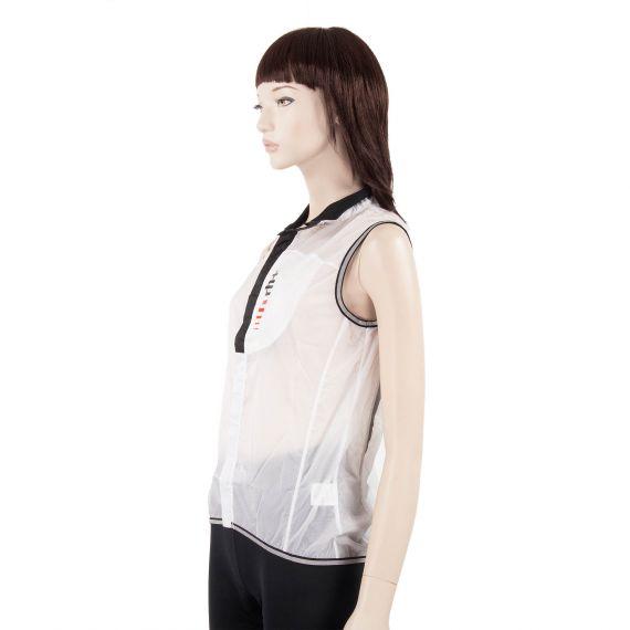 veste sans manche coupe vent blanche femme acquaria vest zerorh d griff 39 stock. Black Bedroom Furniture Sets. Home Design Ideas