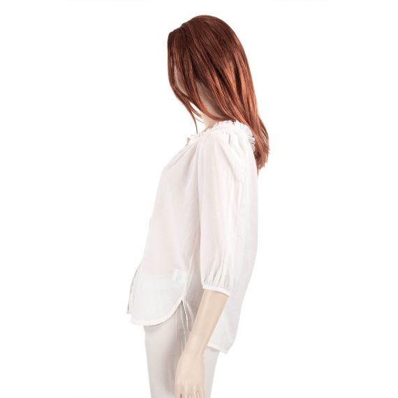 chemisier blanc femme corone love in paradise d griff 39 stock. Black Bedroom Furniture Sets. Home Design Ideas