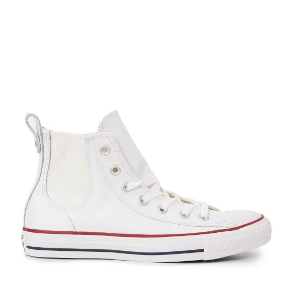 converse montante en cuir blanche femme chuck taylor all. Black Bedroom Furniture Sets. Home Design Ideas
