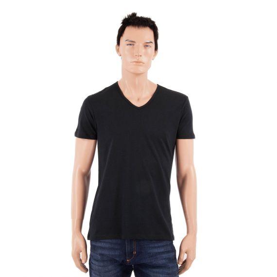 Lot de deux t shirts col V noir homme Puma