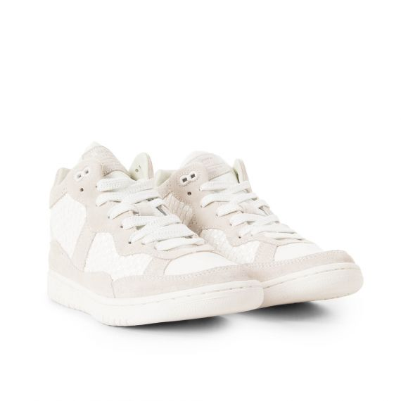 Baskets montantes blanches femme LINDSAY WOVEN Pepe Jeans