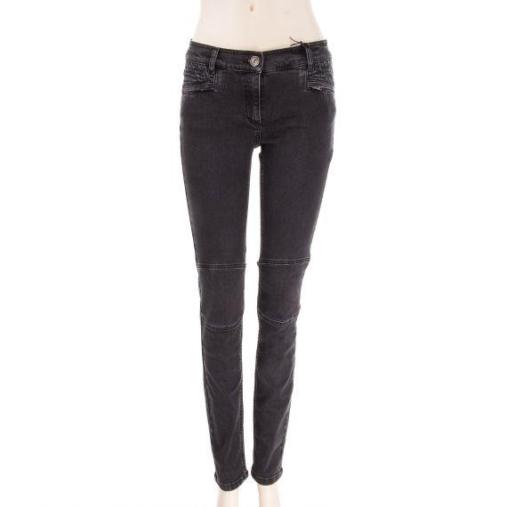 Jeans noir slim couture genoux femme Best Mountain