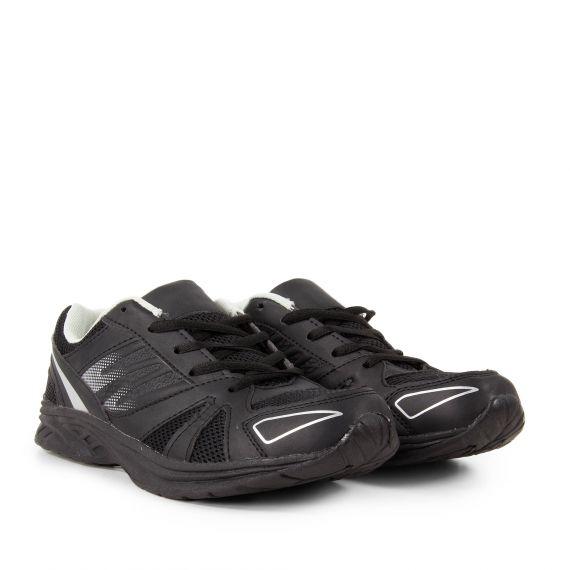 Baskets de running noir et argent homme PERM EG GREASE In Extenso