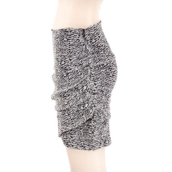 mini jupe noire blanche et grise femme charlise d griff 39 stock. Black Bedroom Furniture Sets. Home Design Ideas