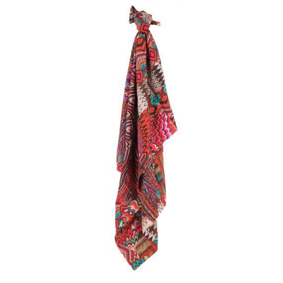 Foulard en soie multicolore femme Georges Rech