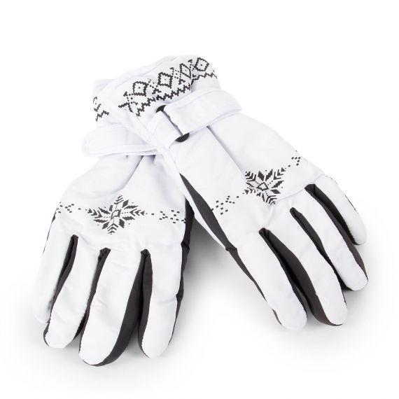 Gants de ski blanc et gris femme Marlybag