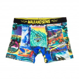 Boxer bleu et jaune garçon SHARKMAN Maui and Sons